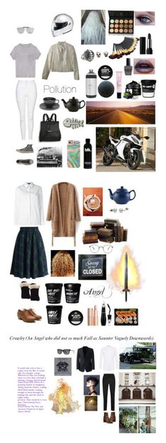 """Good Omens- Neil Gaiman and Terry Pratchett"" by sg701 ❤ liked on Polyvore featuring Massimo Alba, Topshop, Kat Von D, Sort of Coal, Converse, Shany, Kawasaki, Stephen Webster, Casetify and Lauren B. Beauty"