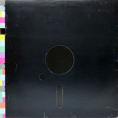"""Back cover of New Order's """"Blue Monday"""" 12"""" with color code, by Peter Saville for Factory Records, 1983."""