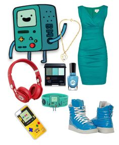 """""""Adventure Time: BMO"""" by dancearden on Polyvore featuring Nicole Miller, Sally Hansen, Shiseido, CellPowerCases, Beats by Dr. Dre and Maria Francesca Pepe"""