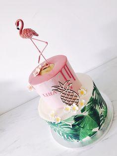 #flamingo #cake #flamingoparty Flamingo Party, Cute Cakes, Yummy Cakes, Beautiful Cakes, Amazing Cakes, Bright Cakes, Sea Cakes, Birthday Cakes For Women, Dream Party
