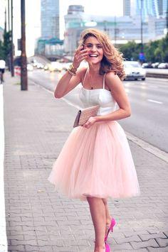 Piękna Kasia Tusk w tiulowej sukni!