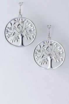 Metal Tree Earrings