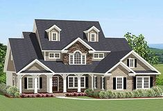 Dynamite Curb Appeal - 46262LA | Traditional, 1st Floor Master Suite, Bonus Room, Butler Walk-in Pantry, CAD Available, PDF, Split Bedrooms, Wrap Around Porch, Corner Lot | Architectural Designs