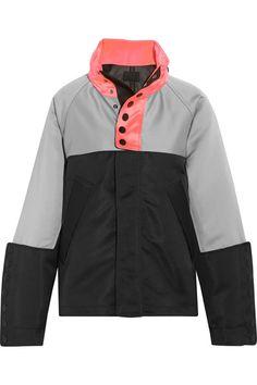 ALEXANDER WANG Oversized color-block satin-twill jacket. #alexanderwang #cloth #jackets