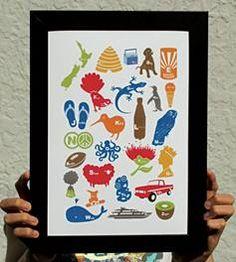 Kiwiana print