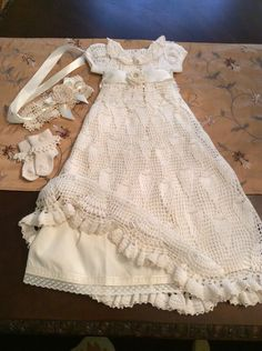 A personal favorite from my Etsy shop https://www.etsy.com/listing/246154878/hand-crochet-ruffled-baby-christening