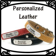 A personal favorite from my Etsy shop! Personalized Dog Collars!