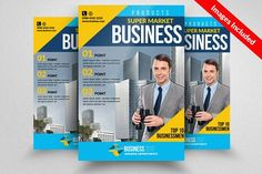 Corporate Flyer Template by Psd Templates on @creativemarket