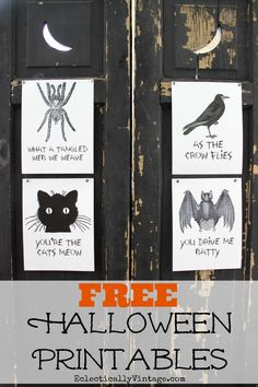 FREE Halloween Printables - I love the fun sayings! eclecticallyvintage.com