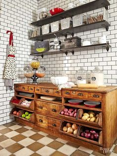O I want the bread box and all of the cupboards with the tilt out drawers and wonderful pulls on the drawers I love this unit