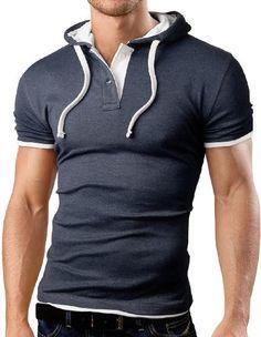 Grin&Bear Men`s Hooded Polo Shirt