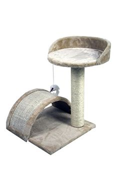 19 Nice Small Cat Tree Sisal Scratching Post Furniture Playhouse Pet Bed Kitten Toy Cat Tower Condo for Kittens Beige by HIDING -- Click image to review more details.