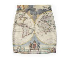 'Double Hemisphere Map Moses Pitt c Throw Pillow by ModernFaces