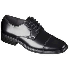 Send your kid back to school in style! | Boy's Scott David® Cody Uniform Oxfords - Black