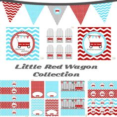 Little Red Wagon Full Printable Party Decor for by BeeAndDaisy, $12.00