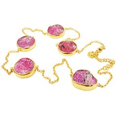 Love for Coloured stones - Natural Pink Drusy | Sushilla Blog