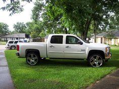 "Silverado with 24"" replica wheels #speedmaster #speedmastertuned"