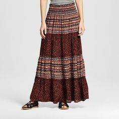 Women's Maxi Skirt Black Print Xxl - Mossimo Supply Co.