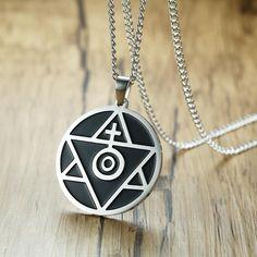 Unique Sun Cross Triangle Spiritual Belief Pendant Necklace for Men