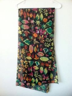 Spring Time Comes Early Leaf Collection Scarf
