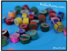 So - you have a load of old pencil stubs... what can you DO with them? #upcycle and re-purpose into a great gift!