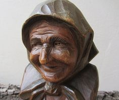 Vintage Hand Carved Wooden Figurine Vintage by ANTIQUEcountry, $48.00
