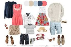 family portraits colors to wear for summer - Google Search
