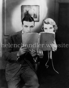 Helen with Richard Barthelmess on the set of 'The Last Flight' Helen Chandler, Hollywood Actresses, Classic Hollywood, Board, Fictional Characters, Fantasy Characters, Planks