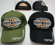 vietnam veteran hat w/shadow Case of 24