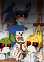 This is probably the last drawing I'll post here in a while- will still announce t. Tails Doll, Sonic Fan Art, Electronic, Creepypasta, Mlp, Goku, Sonic The Hedgehog, Scary, Pikachu