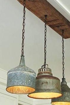 Originele industriële lampen - vintage strijl