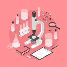 Buy Chemistry Laboratory Objects Illustration by Petrolium on GraphicRiver. Detailed isometric illustration of chemical laboratory equipment. Chemistry Drawing, Chemistry Tattoo, Chemistry Classroom, Physical Chemistry, Chemistry Experiments, Science Chemistry, Science Art, Chemistry Revision, Chemistry Teacher