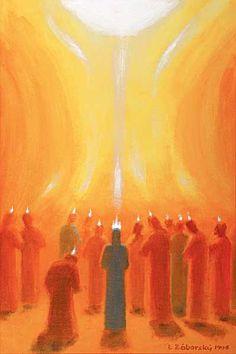 tongues of fire Bible Pictures, Jesus Pictures, Christian Images, Christian Art, Catholic Art, Religious Art, Religion, Spiritual Images, Saint Esprit