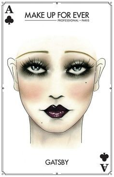 What's a 20s Halloween Look without some Gatsby Inspired Makeup | MAKE UP FOR EVER Halloween Card - The Office Chic