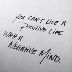 Positivity mind leads to positive life