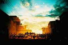 I LOVE this!! MX of a sunset and an orchestra performing... dreamy.