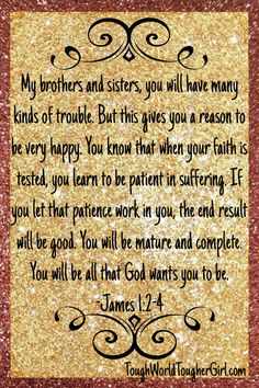 James 1:2-4. Planning for 2017? Let's start with 31 daily prayers for the future. Read day 10 of the month long prayer challenge.