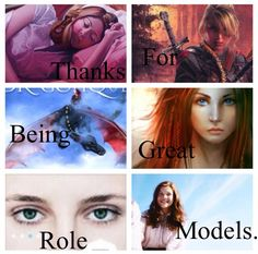 Thanks for being great role models. Bonnie (Dragons in Our Midst) Lady Carliss (Knights of Arrethtrae) Kale (DragonKeeper Chronicles) Antoinette/Gwenne (Door Within Trilogy) Thalli (Anomaly Trilogy) Lucy (The Chronicles of Narnia)