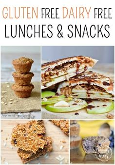 GLUTEN FREE DAIRY FREE LUNCHES & SNACKS
