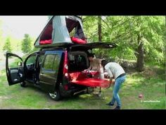 Now, how is that for a mini camper? This video perfectly describes the functionality of a small camper van conversion. You can travel around the country with it or just use it for your weekend getaway. All that in one vehicle on your driveway or garage. Travel Camper, Car Camper, Mini Camper, Petit Camping Car, Van Camping, Camping Hacks, Camping Gear, Small Camper Vans, Small Campers