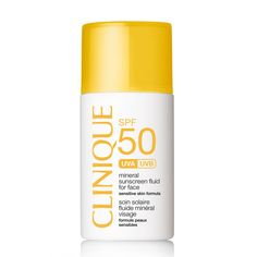 Clinique Sun Mineral Sunscreen Fluid zonnebrand - 30 ml Best Facial Sunscreen, Creme Anti Rides, Protector Solar, Sensitive Skin Care, Exfoliant, Clinique, Oily Skin, Natural Skin Care, Skin Care Tips