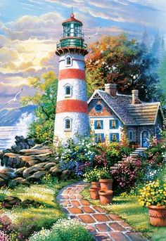 cozy cottage complete with lighthouse