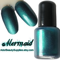Mermaid Nail Polish 8 ml Vegan Non-Toxic. $3.50, via Etsy.