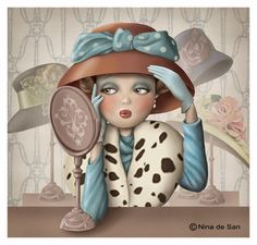 I love hats Decoupage, Et Wallpaper, Fun Illustration, Marquis, Cute Images, Whimsical Art, Art Pictures, Cute Art, Little Girls