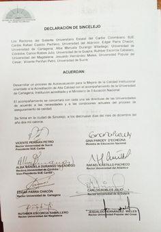 Rectores del SUE Caribe y Ministerio de Educación firman acuerdo de trabajo con miras de la Acreditación Institucional en Alta Calidad. #Unicartagena #SueCaribe #MinEducación