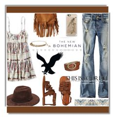 """""""The New Bohemian with American Eagle Outfitters: Contest Entry"""" by soks ❤ liked on Polyvore featuring American Eagle Outfitters, Style & Co., Forever 21, Casetify, Rachel Pally, polyvoreeditorial and aeostyle"""