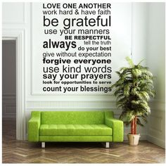 Wall Decal  LOVE ONE ANOTHER  Vinyl Wall Art by ModernWallDecal, $48.00