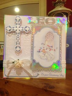 A christening card