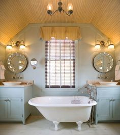 like the paint color farmhouse bathroom by Our Town Plans