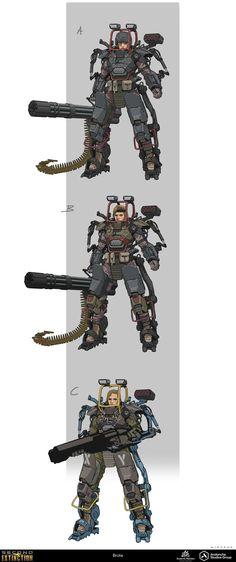 Robot Concept Art, Armor Concept, Weapon Concept Art, Futuristic Armour, Futuristic Art, Fantasy Inspiration, Character Design Inspiration, Gato Anime, Sci Fi Armor